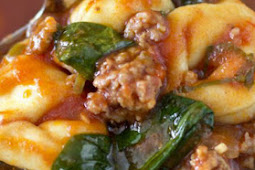Delicious Tortellini Soup with Italian Sausage & Spinach