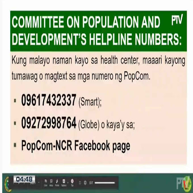 population and development helpline numbers