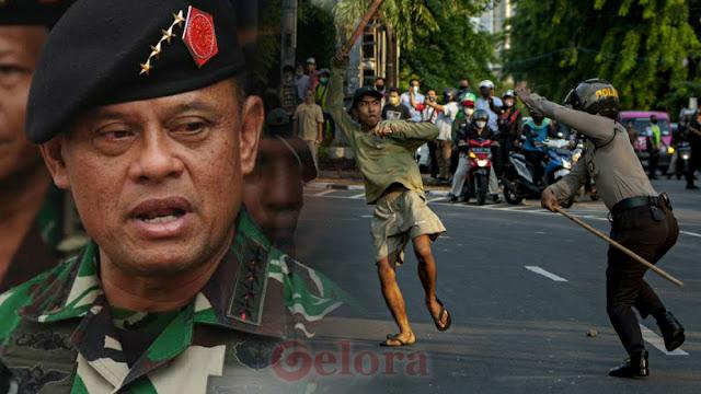 Jenderal Gatot Kutuk Aparat Represif ke Pendemo: Makan dan Gaji Mereka dari Rakyat!