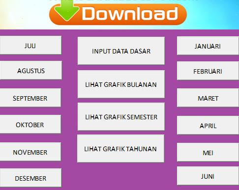 gambar Aplikasi Absensi Siswa Plus Grafik Bulanan, Semseter Dan Tahunan Format Excel