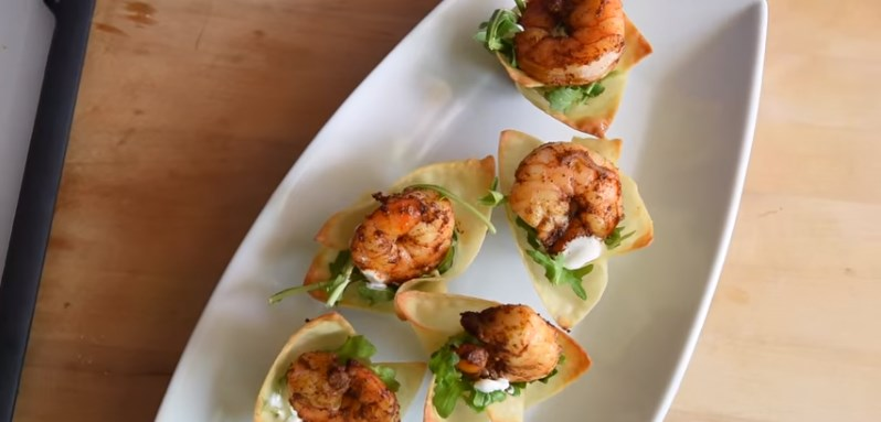 Chili Lime Baked Shrimp Cups #appetizer #quickandeasy