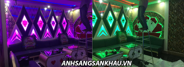 Đèn phòng karaoke trang trí đẹp - sáng tạo
