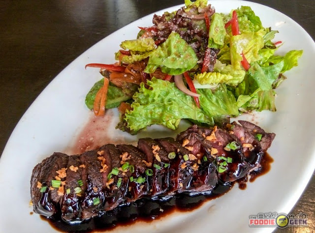Vittorio's Steakhouse, Tomas Morato, Timog, Quezon City, pan seared hanging tender with salad