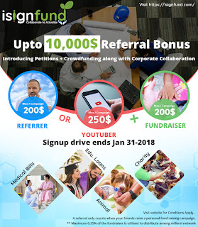 isignfund refferal campaign