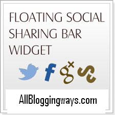 Floating Social Media Share Widget For Blogger: Best Widget