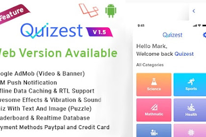 Download Quizest v1.5 - Complete Quiz Solutions With Android App And Interactive Admin Panel
