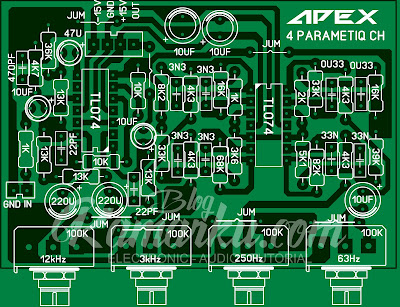 Membuat Parametiq equalizer Apex 4 Chanel