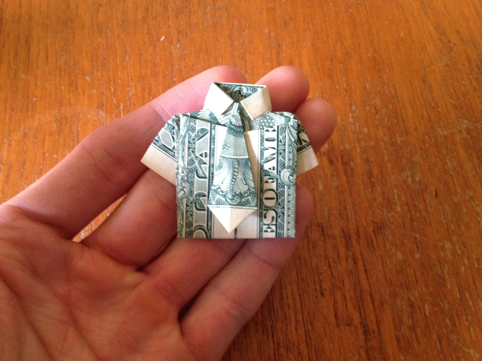 Dollar Bill Origami: Shirt and Tie | The Best Hobbies Blog - photo#39