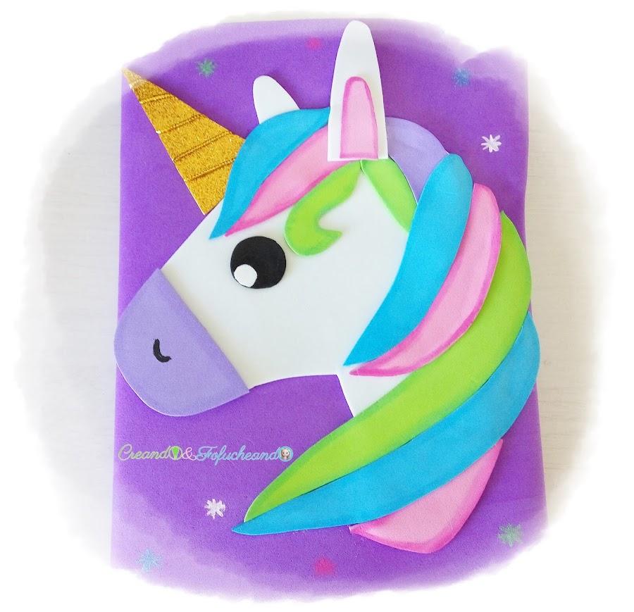 Unicornio-paso-a-paso-decora-tu-cuaderno-con-goma-eva-creandoyfofucheando
