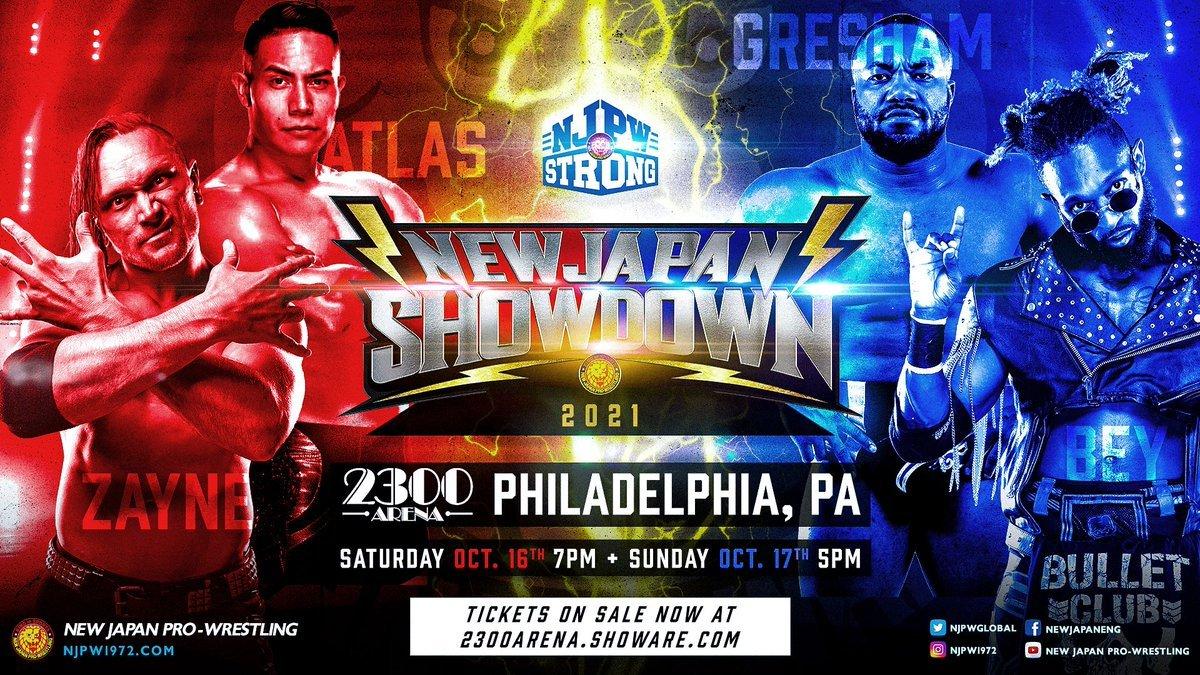 Alex Zayne e Jake Atlas estarão no NJPW STRONG Showdown