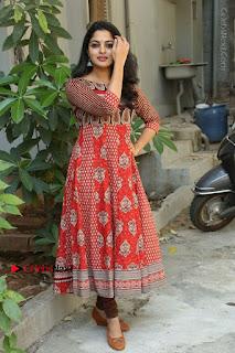 Telugu Actress Nikhila Vimal Latest Stills in Anarkali Dress  0214.JPG