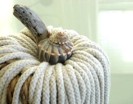pumpkin craft with rope