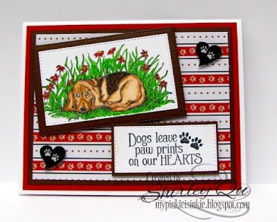 ODBD Dog Sympathy, ODBD Customer Card of the Day Designed by Shirley Qu aka wannabecre8tive