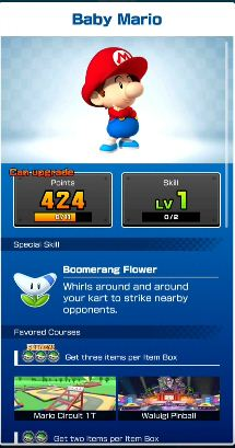 Mario Kart Tour, MKT, Baby Mario, Boomerang, Tip, Challenge, Solution.