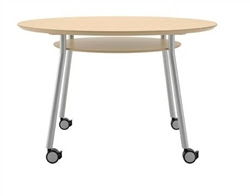 Mystic Series Mobile Meeting Table with Round Surface