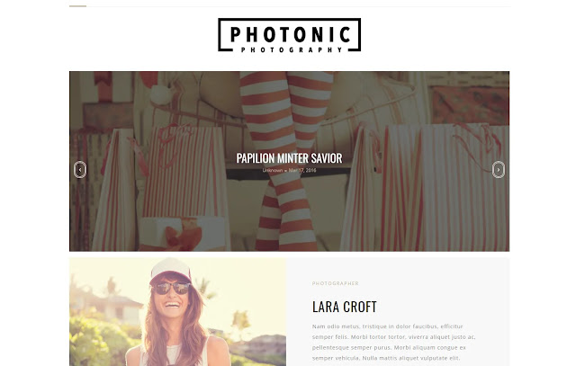 Photonic Responsive Personal Blog Girl Blog Photo Blog Gallery Blog Blogger Template Theme