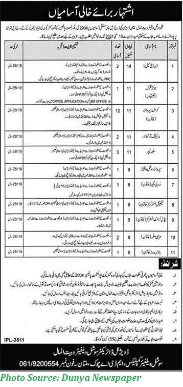 Social Welfare Bait ul Mal Jobs 2021 - Latest Jobs in Pakistan Bait ul Mal Multan Division