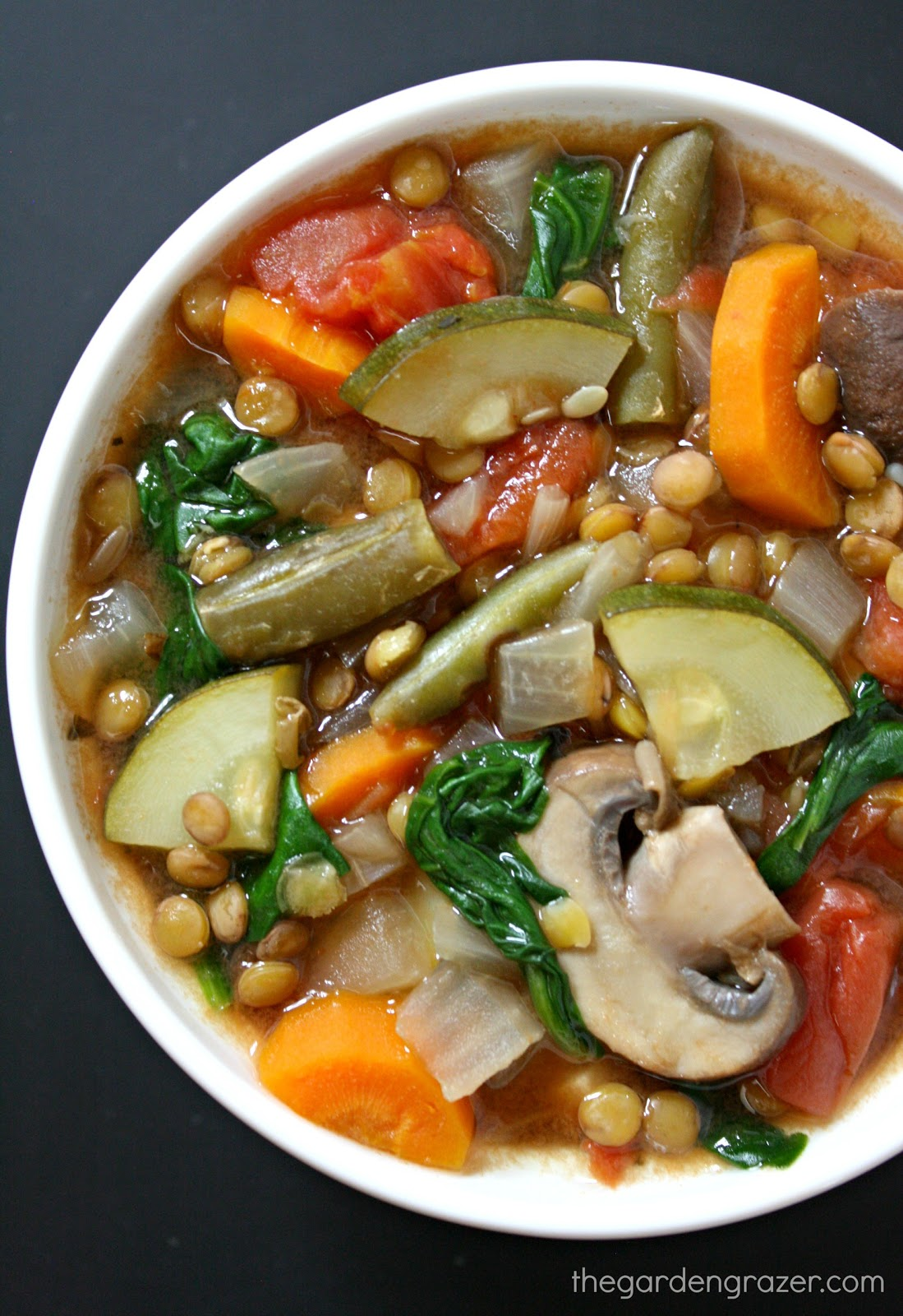 The Garden Grazer: Lentil Vegetable Soup