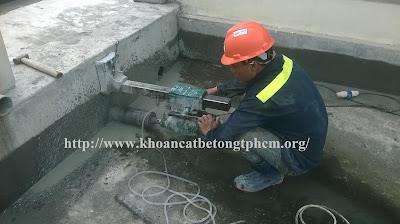Khoan cắt bê tông tại Cà Mau