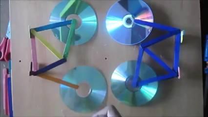Cara Membuat Sepeda dari CD Bekas