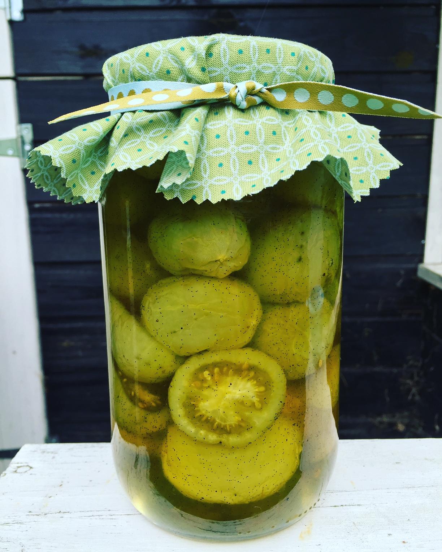 Evas Køkken: Mormors vaniljesyltede grønne tomater