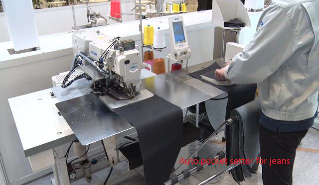 Jeans pocket setter sewing machine