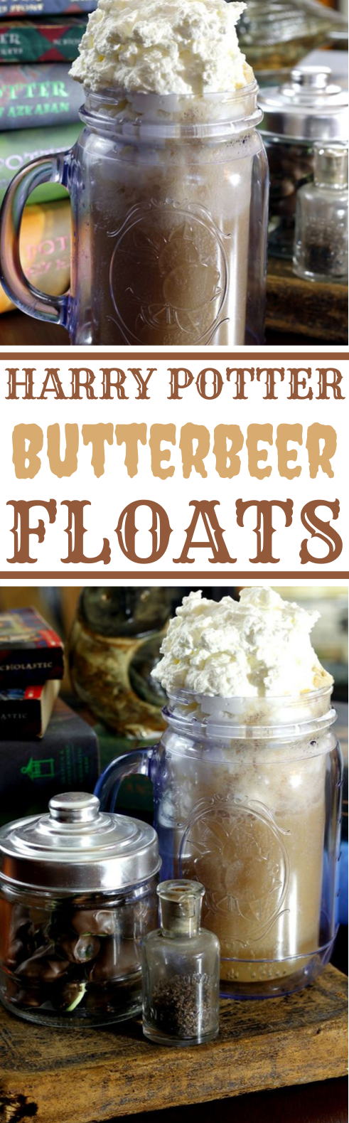 Homemade Butterbeer Floats #drink #recipe #nonalcohol #fall #party
