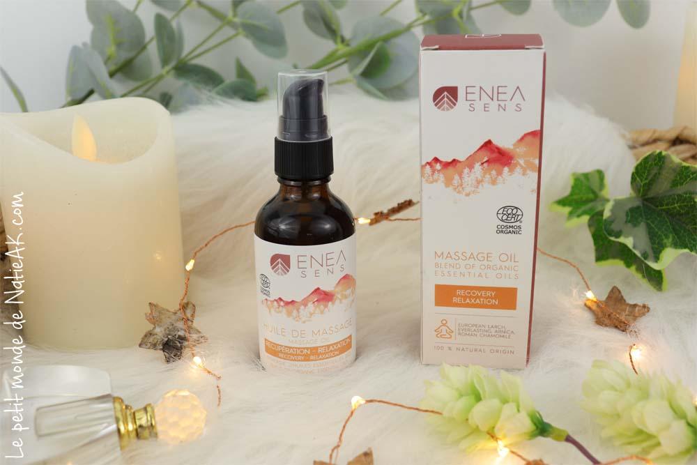 huile de massage récupération relaxation enea sens