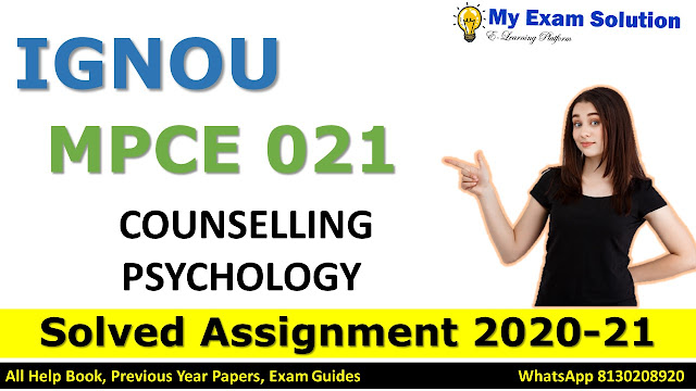 MPCE 013 PSYCHOTHERAPEUTIC METHODS Solved Assignment 2020-21