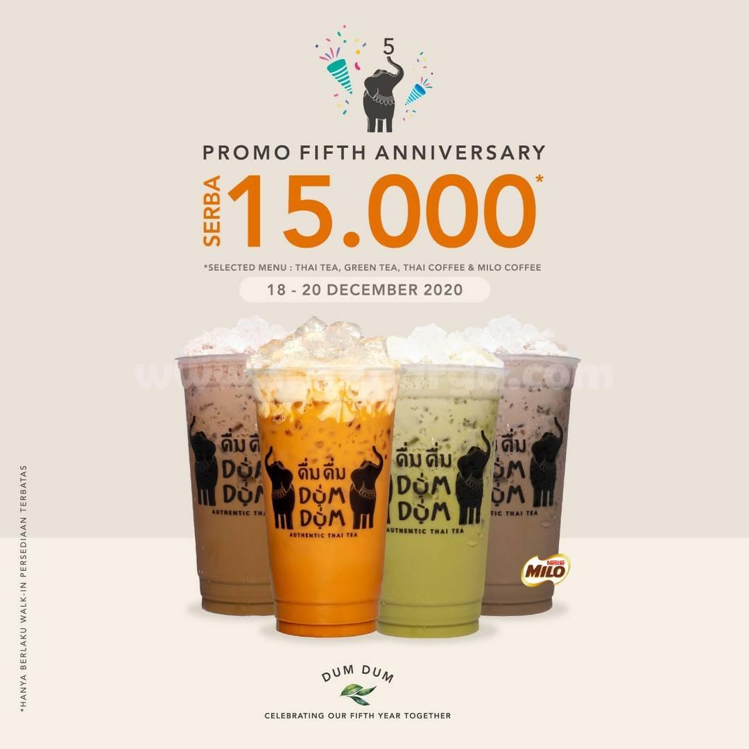 Dum Dum Thai Drinks Promo Fifth Anniversary