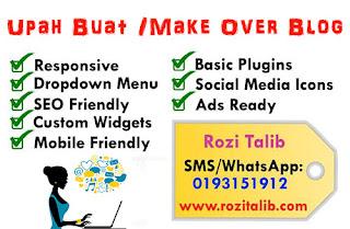 Upah Buat Blog / Make Over Blog Bisnes