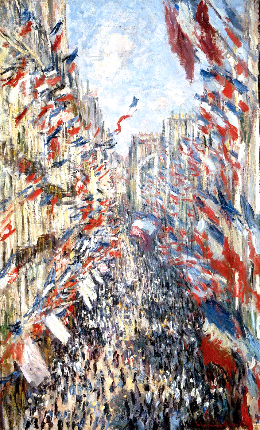 The Rue Montorgueil, Paris, The National Holiday of 30 June (1878) by Claude Monet - UK culture blog