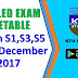 Detailed Time-Table Published | B.Tech S1,S3,S5 Exam December 2017