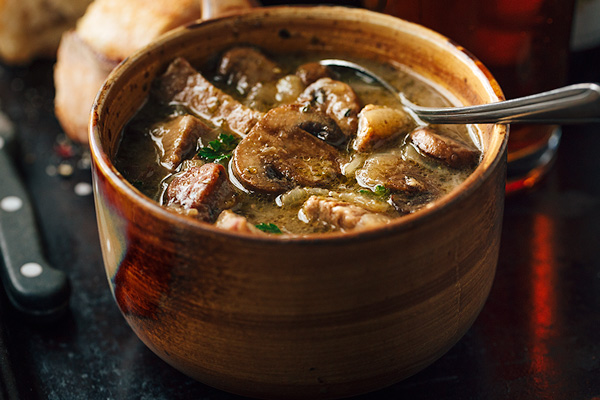 Steak and Ale Soup with Mushrooms, and the Process of Transformation