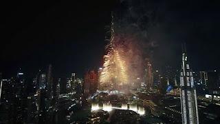 بالفيديو: احتفالات رأس السنة 2020 من برج خليفة في دبي