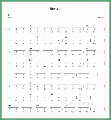 not angka lagu borero
