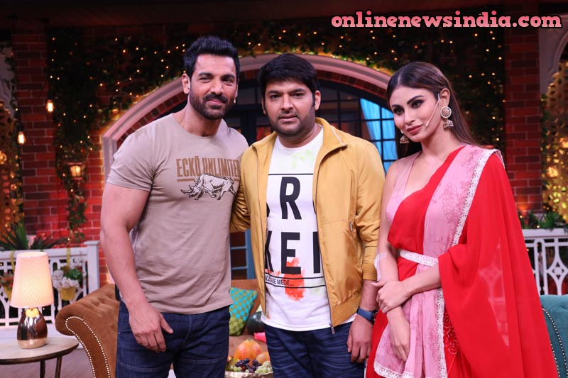 John Abraham and Mouni Roy with Kapil Sharma