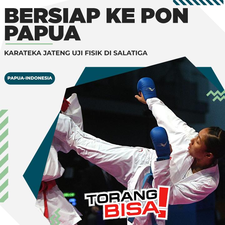 Bersiap Ke PON Papua, Karateka Jateng Uji Fisik Di Salatiga