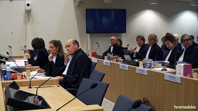 În prima etapă a audierilor judecătorești, care a avut loc în Olanda, în perioada 9 - 13 martie, au luat cuvântul toate părțile la proces: urmărirea penală, apărarea și reprezentanții victimelor