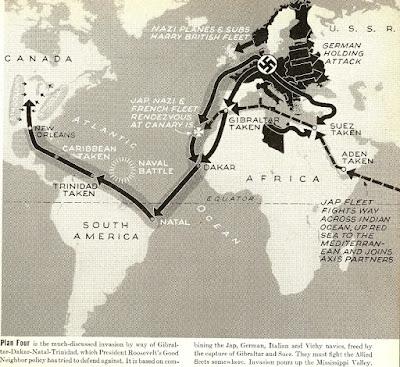 Plan nazi ataque e invasión de Estados Unidos - revista LIFE