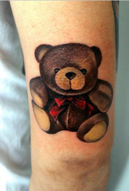 tatuagens de ursinhos para as meninas