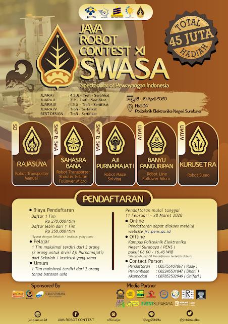 Java Robot Contest XI oleh Politeknik Elektronika Negeri Surabaya
