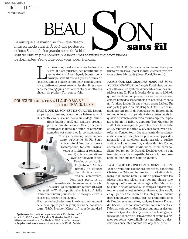 jean michel jarre pleasure principle maison fran aise magazine n 1 d cembre 2013. Black Bedroom Furniture Sets. Home Design Ideas