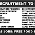 URGENT RECRUITMENT FOR OIL&GAS / REFINERY CONSTRUCTION PROJECT IN NBTC - KUWAIT