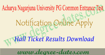 ANU PGCET 2019 notification online apply hall ticket results