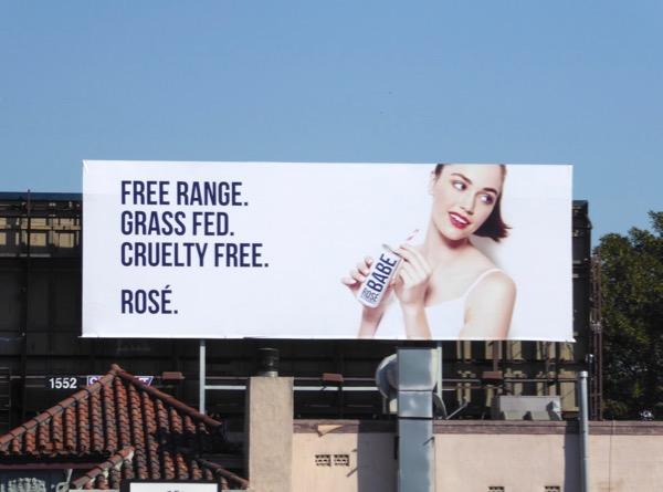 Free range Grass fed Babe Rosé billboard