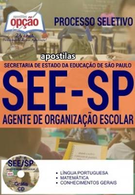Apostila Concurso Público SEE SP para Agente de organização escolar