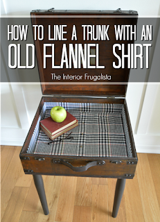 How To Line Trunk With Flannel Shirt