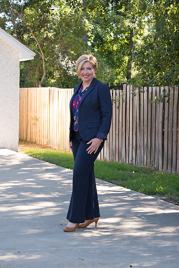 summer work wear, womens pinstripe suit