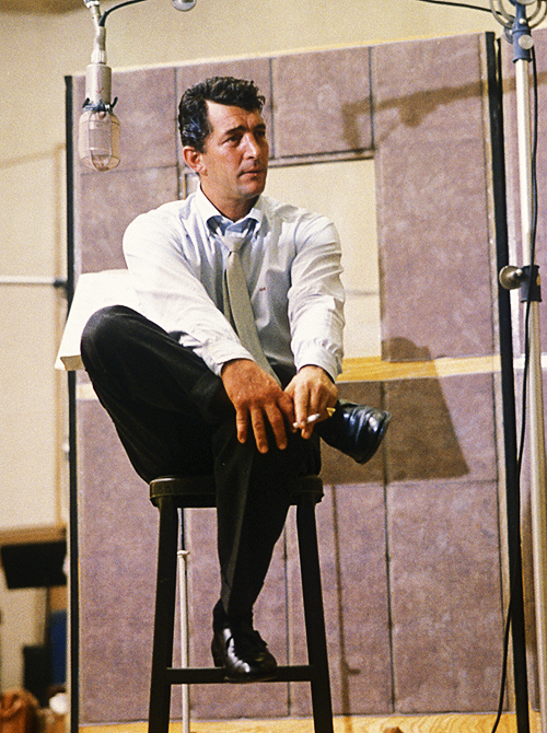 Dean Martin During a Recording Session at Capitol Records 49f65f514